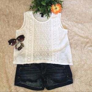 💖Forever 21 lace sleeveless top